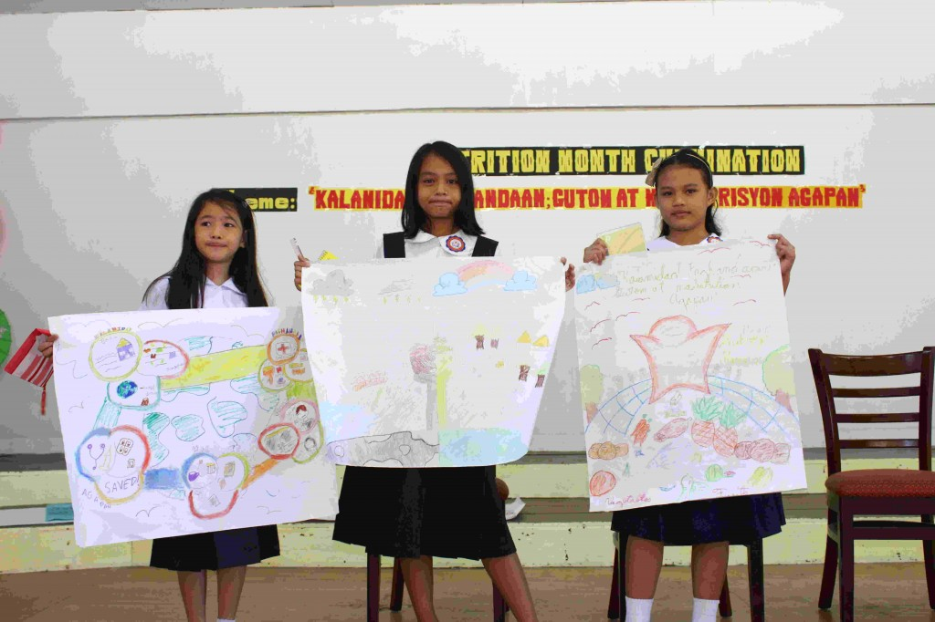 Elementary poster making contest winners – Nutrition Month