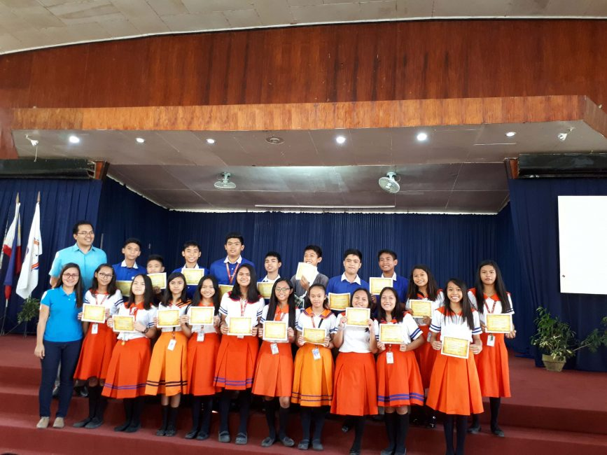Junior Academy Honor students, Dean's listers and Outstanding students for Third Grading Period